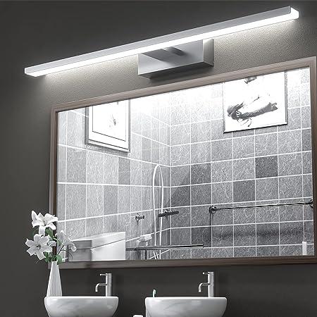 VITCOCO LED Lampe Miroir Salle de Bain 15W 1200LM 60cm 230V 6000K Luminaire Salle de Bain, IP44 Imperméable Classe Miroir Lumineux Led, Non Scintillement, Mur Lampe LED 600mm