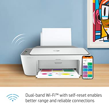 HP DeskJet 2755e Wireless Color All-in-One Printer with bonus 6 free months Instant Ink with HP+ (26K67A)