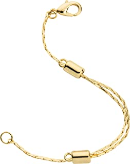 14K Yellow Gold Filled Adjustable Necklace Chain Extender with Lobster Clasp, 1 Extender