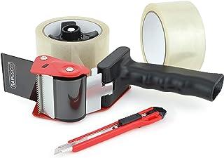 Dévidoir de ruban adhésif Rapesco 960 avec 2 rouleaux de ruban adhésif transparent et un cutter