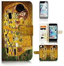 ( For iPhone 8 Plus / iPhone 7 Plus ) Flip Wallet Case Cover & Screen Protector Bundle! A0007 The Kiss Klimt