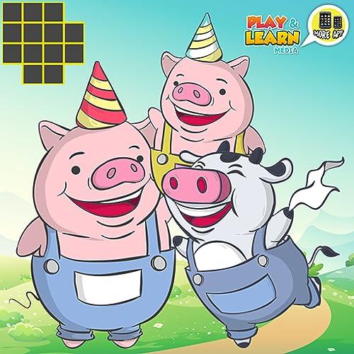 ★★★ Três Porquinhos - Jogos pré-escolares para crianças pequenas, jogos educativos divertidos para crianças pequenas! ★★★