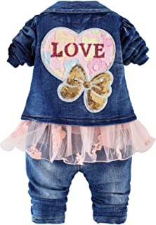 Spring Autumn Infant Baby Girls Clothing Set 3 Pieces...