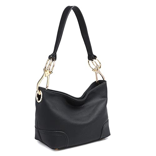 133537b92 Classic Large Hobo Shoulder Bag Women Tote Purse Ladies Handbag PU Leather  Big Snap Hook