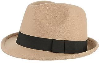 GEMVIE メンズ 帽子 フェルトハット 中折れハット アウトドア 旅行 つば付き 紳士帽 フォーマル ソフトハット カジュアル