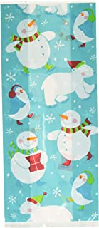 Christmas Polar Pals Multi Colored Plastic Party Bags | Supply, 240 Ct.