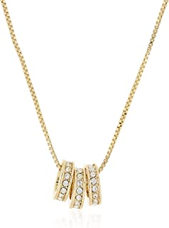 MESTIGE Women Crystal Golden Alma Necklace with Swarovski Crystals