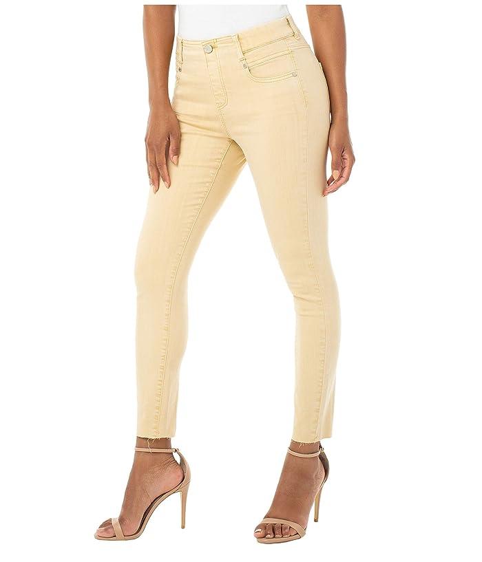 Liverpool  Gia Glider Crop Cut Hem in Dijon Yellow (Dijon Yellow) Womens Jeans