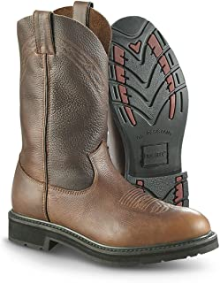 Guide Gear Men's 12 Pull-On Leather Work Boots