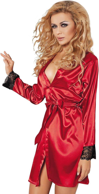 DKaren Women Gina Soft Red Dressing Gown