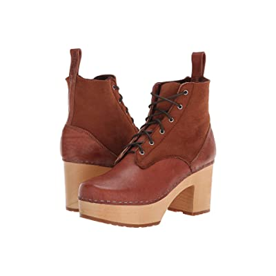 Swedish Hasbeens Hippie Lace-Up (Cognac) Women