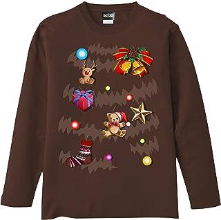 [GENJU] Tシャツ クリスマス ツリー イベント パーティ 裏もデザイン有 メンズ キッズ