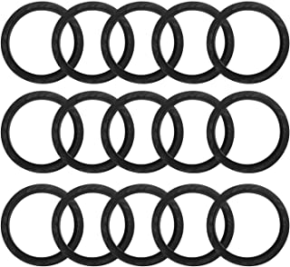50pcs 20mm Replacement Silicone Rubber Seal Ring Compatible with Nespresso Machine Stainless Steel Refillable Coffee Capsu...