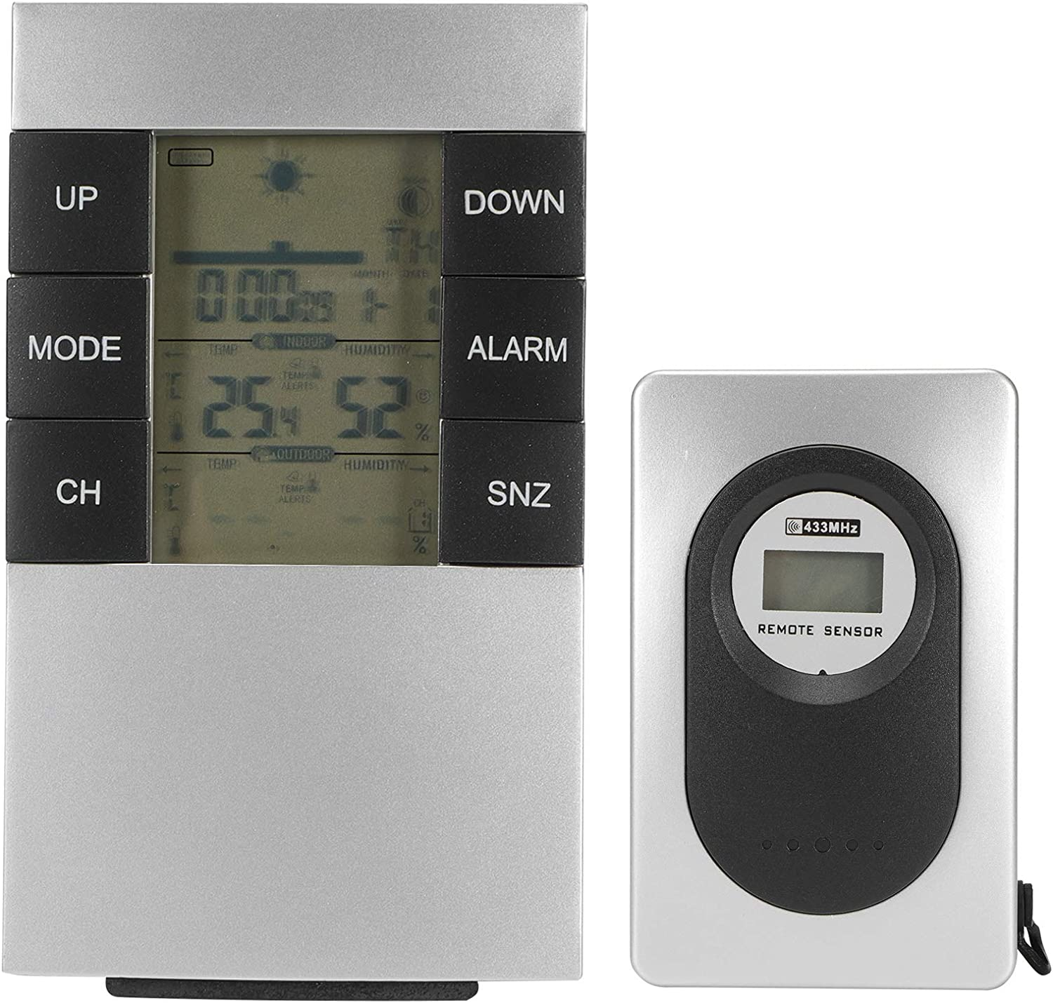Weather Station Multifunctional Detroit Mall Alarm Digital Hy Wireless Clock Gifts