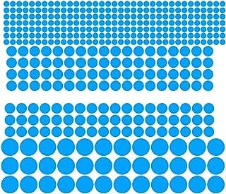 #N/A グローインザダークスターズ-ベビーキッドナーサリールーム、ピールアンドスティック用の再利用可能な接着剤の明るい発光グローステッカー - #青407ドット