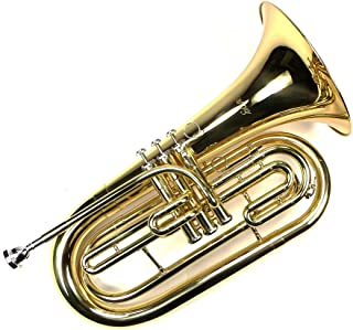 Advanced Monel Pistons Marching Baritone Key of Bb w/ Case & Mouthpiece-Gold Lacquer Finish