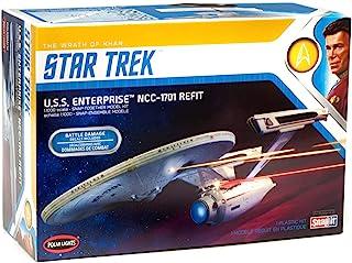 Polar Lights Star Trek U.S.S. Enterprise Refit Wrath of Khan Edition 1/1000 Scale Snap Together Space Ship Model Kit TV Sh...