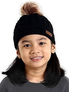 Kids Pom Pom Beanie for Girls & Boys - Warm & Cute Baby & Toddler Winter Hats for Children