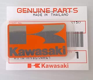 Kawasaki 56054-1434 - Genuine Original Kawasaki ' K ' Mark Sticker Decal Orange/ Silver 42MM X 24MM