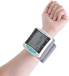 Automatic Wrist Blood Pressure Monitor with Digital LCD Display Screen- Fast BP and Pulse Readings, WHO Indicator and Adjustable Cuff by Bluestone