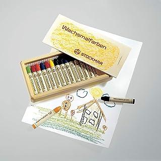 Stockmar Wachsmalstifte - 16 Farben im Holzkasten