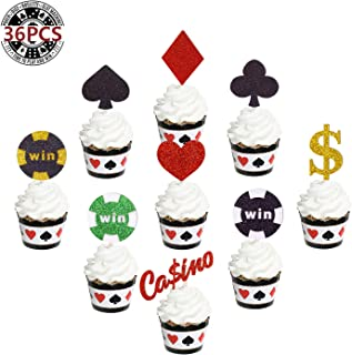 Best casino theme cupcake toppers Reviews