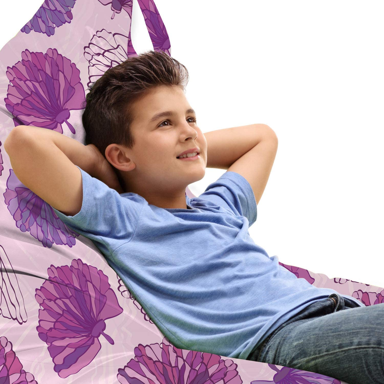Ambesonne Romantic Lounger Chair Bag Hand Pink and Online limited product Ranking TOP8 Purple Drawn
