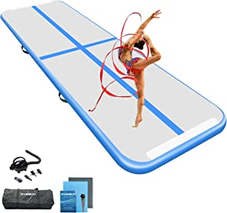 Ewinusun 10/13/16FT Gymnastics Tumbling Mat Air Track Floor Inflatable Mats with Electric Air Pump for Home Use/Tumble/Gym...