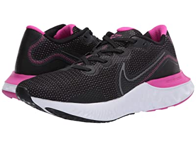 Nike Renew Run (Black/Metallic Dark Grey/White/Fire Pink) Women
