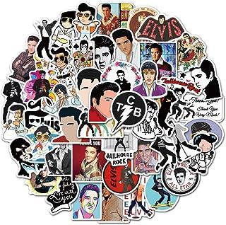 Pop Singer Elvis Stickers of 50 Vinyl Decal Merchandise Laptop Stickers for Laptops, Computers, Hydro Flasks, Skateboard a...