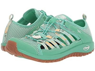 Chaco Kids Outcross 2 (Toddler/Little Kid/Big Kid) (Teal) Girls Shoes