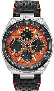 Citizen Mens Eco-Drive Watch Limited Edition AV0078-04X Black Orange