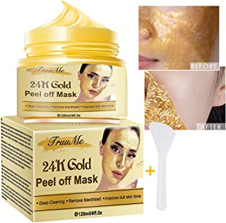 24k Gold Face Mask, Blackhead Remover Mask, Peel Off Blackhead Mask, Deep Cleansing Facial Mask Pore Shrinking, Anti Acne ...