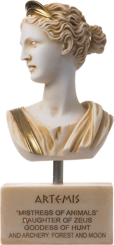 Artemis Diana Bust Greek Statue Nature Gold Al Moon New Dallas Mall Shipping Free Goddess Tone