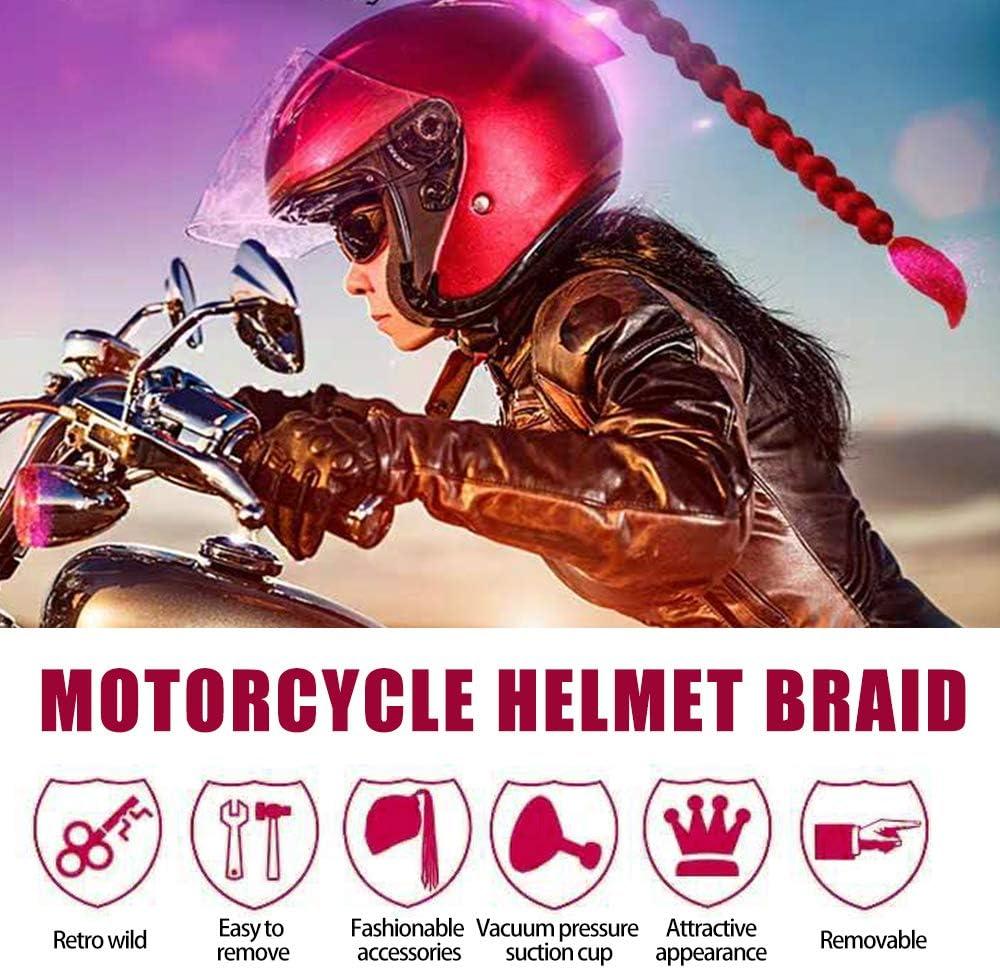 KKmoon 21 Pouces Motos Gradient Ramp Casque D/écorer Tresses R/étro Moto Casque Tresses Ne Comprend Pas Le Casque