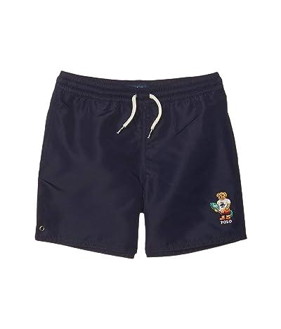 Polo Ralph Lauren Kids Captiva Surfer Bear Swim Trunks (Little Kids) (Newport Navy) Boy