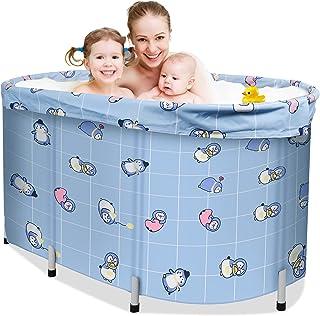 ETE ETMATE Draagbare opvouwbare badkuipen, opvouwbare badkuipen, cirkelvormige badkuipen voor douches, met deksels en dik ...