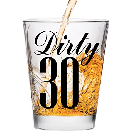 Flirty 30 Birthday Tall Shot Glasses Eat Drink and be Partee 20242 30th Birthday Shooter Glasses Flirty Thirty
