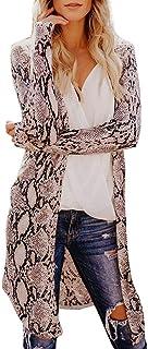 Fannyfuny Ropa Mujer Cárdigans Camisetas Casuales Imprimiendo Estampada de Kimono Cardigan Chal con Frente Abierto Cárdiga...