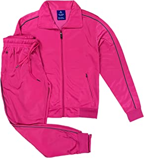Women's Athletic Sports Exertion Tracksuit Outfit Trackpant and Track Jacket Jogger Gym Casual Wear Set