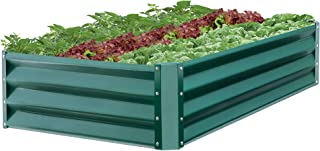 Best Choice Products 47x35.25x11-inch Outdoor Metal Raised Garden Bed Box Vegetable Planter for Growing Fresh Veggies, Flowers, Herbs, and Succulents, Green
