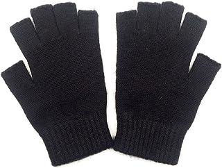 Mongolian Pure Wool Woman Women Man Men Half Fingers Mid Fingerless Gloves Mittens