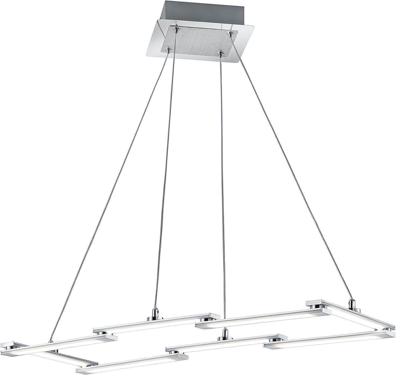 Trio Leuchten Suspension LED Damon, aluminium brossé 374610805