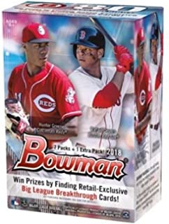 2018 Bowman Baseball Blaster Box (8 Packs/10 Cards - Possible Autographs)