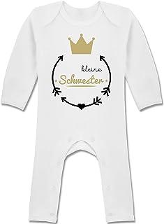 Shirtracer Kleine Schwester - Krone - Baby-Body Langarm für Jungen und Mädchen