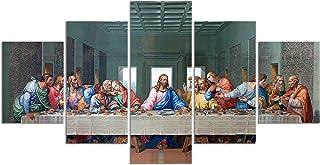 Leonardo Da Vinci's The Last Supper Poster Print on Canvas Painting Wall Art for Living Room Decor (Unframed, The Last Sup...