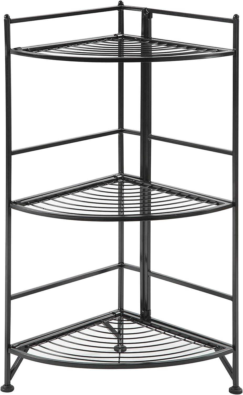 Convenience Concepts Xtra Storage 3 Co Metal Folding Tier Finally popular brand Corner Max 75% OFF
