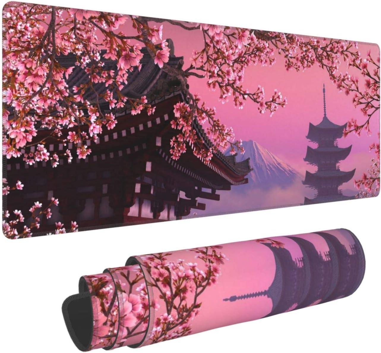 Japanese Sakura Flower Gaming safety Mouse Cheap bargain Pad Long XL Mousep Extended