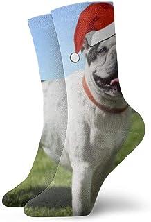 OUYouDeFangA, OUYouDeFangA - Calcetines Cortos de algodón para Adultos, diseño de Bulldog francés, Color Blanco y Negro, para Yoga, Senderismo, Ciclismo, Correr, fútbol