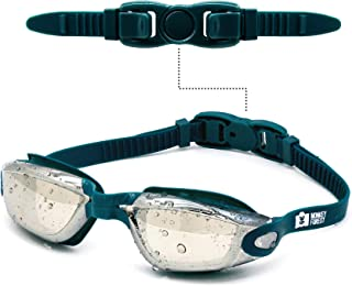 MONKEY FOREST Swim Goggles, Anti-fog UV Protection No Leaking Swimming Goggles, Wide View Adjustable Comfort fit Swim Glas...